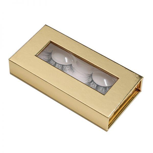 private label eyelashes box-gold